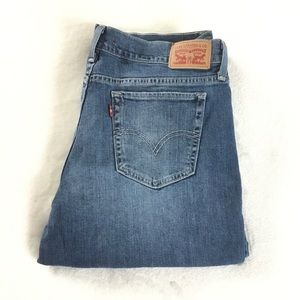 Men's 414 relaxed fit Levi's blue jeans